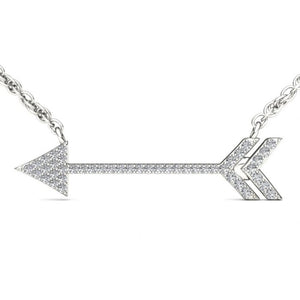 Diamond Arrow Pendant .925 Sterling Silver