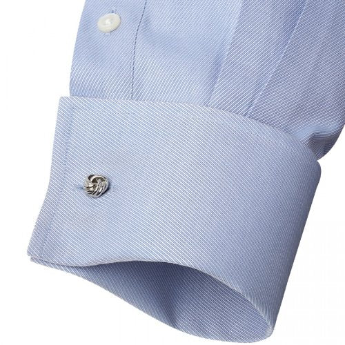 Knot Cufflinks Rhodium Plated