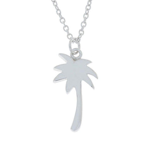 Palm Tree Design Pendant .925 Sterling Silver