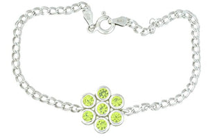 1.75 Ct Peridot Bezel Bracelet .925 Sterling Silver Rhodium Finish [Jewelry]