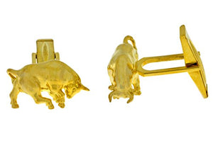 Bull Cufflinks 14Kt Yellow Gold Plated [Jewelry]