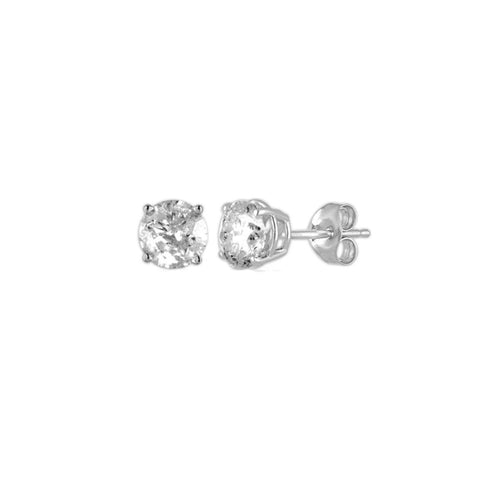 14Kt White Gold 0.20 Ct Genuine Natural Diamond Round Stud Earrings