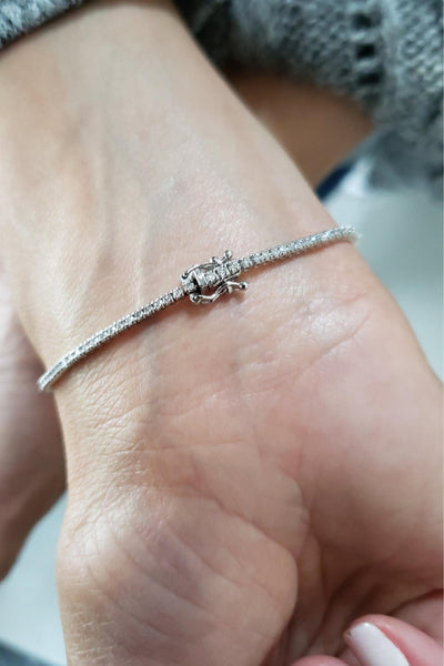 14Kt White Gold 1.12 Ct Diamond Tennis Bracelet