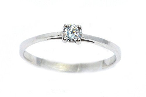 3mm Genuine Zirconia Round Ring .925 Sterling Silver Rhodium Finish