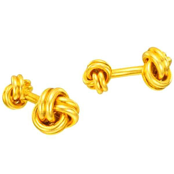 11.2 Grams Knot Cufflinks 14Kt Yellow Gold Plated [Jewelry]