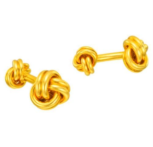 Knot Cufflinks 14Kt Yellow Gold Plated