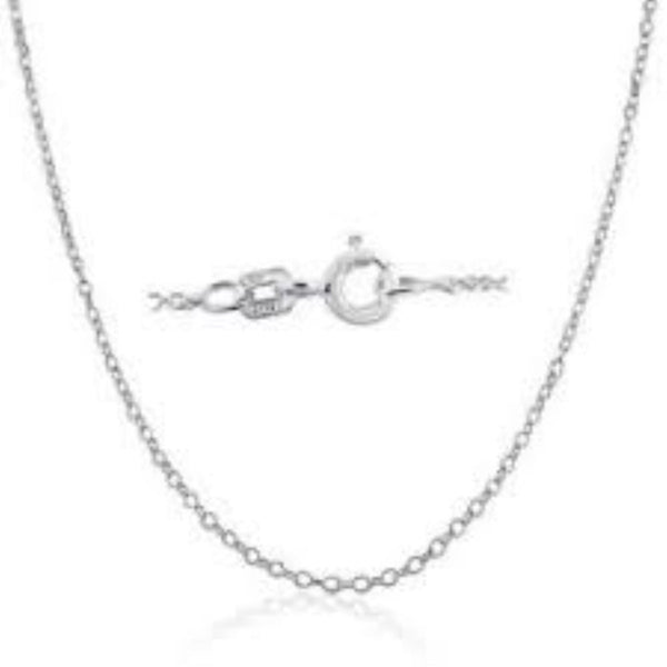 18 inch Chain Necklace .925 Sterling Silver