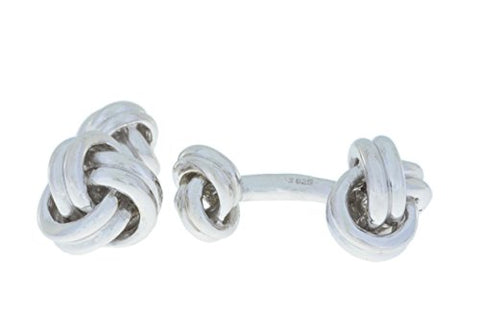 11.2 Grams Knot Cufflinks .925 Sterling Silver Rhodium Finish [Jewelry]