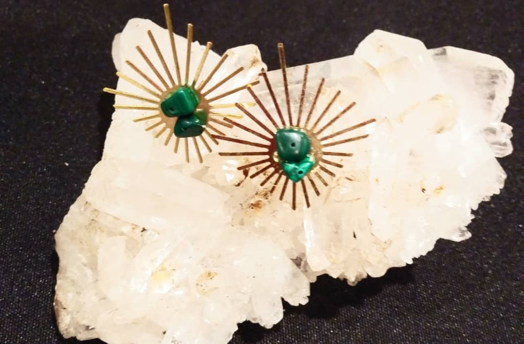 Malachite Sunshine Earrings