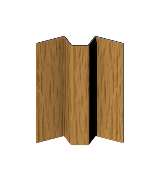 CanExel 135 Degree Aluminium Internal Corner Trim Woodgrain. 3m