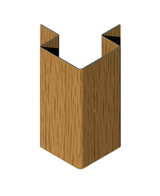CanExel 90 Degree External Corner Trim Smooth/Woodgrain. 3m.
