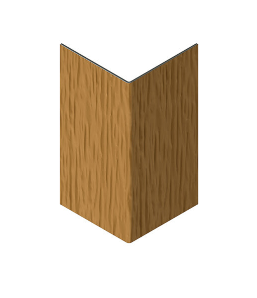 CanExel 90 Degree Aluminium External Corner Trim Woodgrain. 50 x 50mm x 3m
