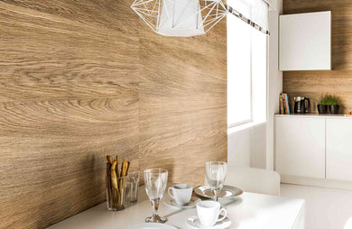 Vox Kerradeco internal wall cladding panel wood brandy kitchen