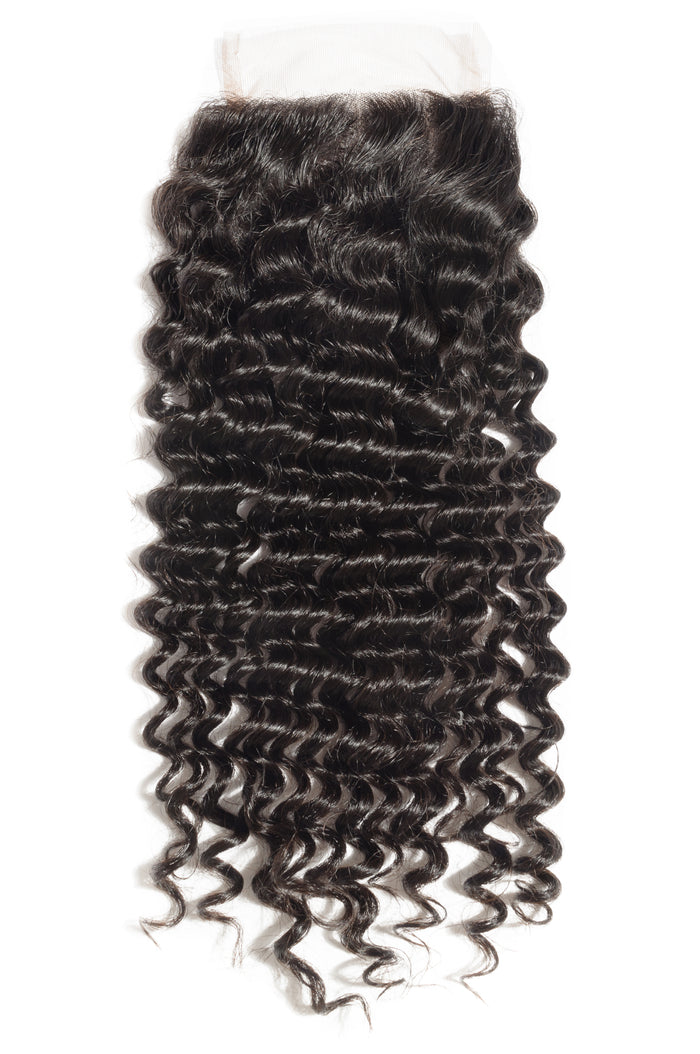 Brazilian Deep Curly Lace Closures 4x4 -Wholesale