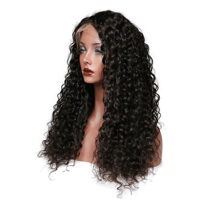 Brazilian Deep Wave Glueless Lace Front Wig