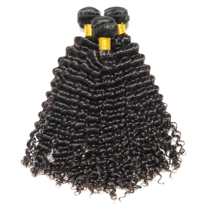 Virgin Curly Human Hair 3 Bundles
