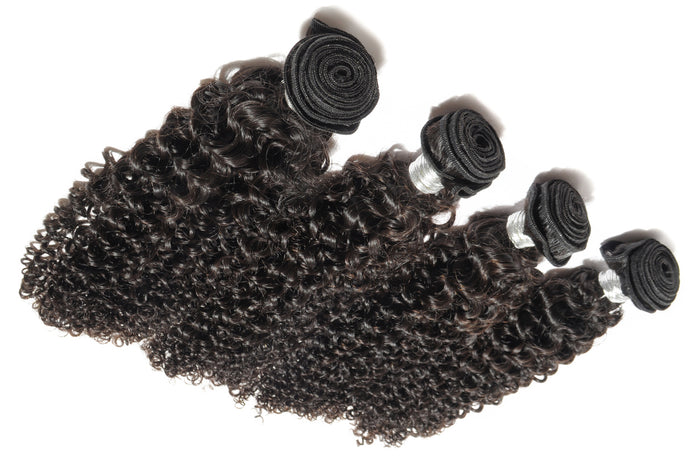 Kinky Curly Human Hair 3 Bundles