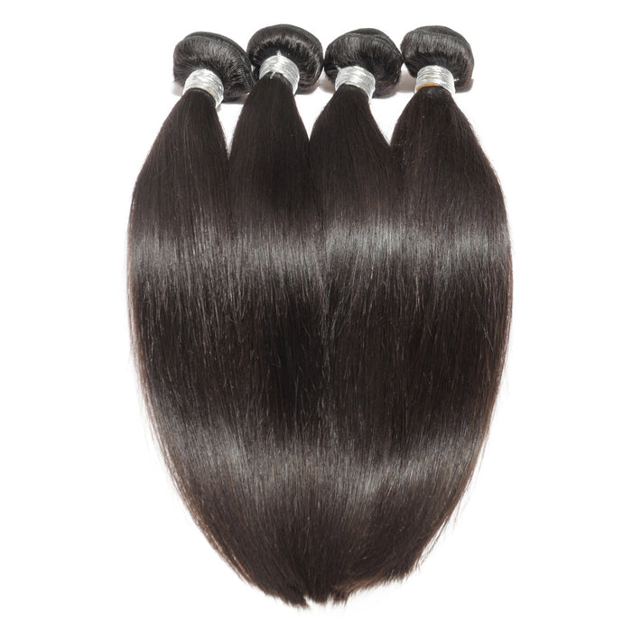 Virgin Straight Human Hair 3 Bundles