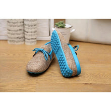 Breathable Weaved Canvas Lace-up Summer Loafers (Anti Odour)