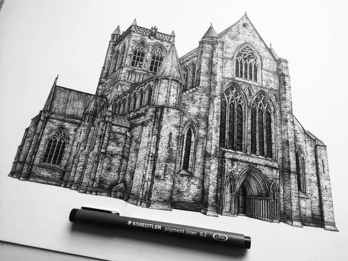 Jennifer Court's Ink Emphasizes Architectural Strength