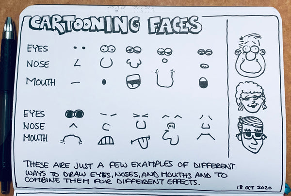 cartooning faces