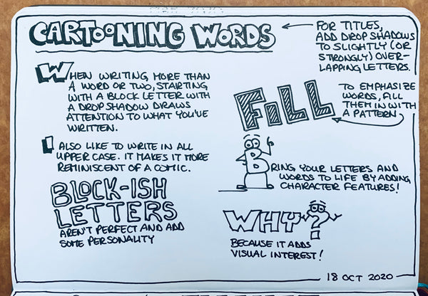 Cartooning Words