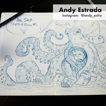 Andy Estrada sketchbook artwork