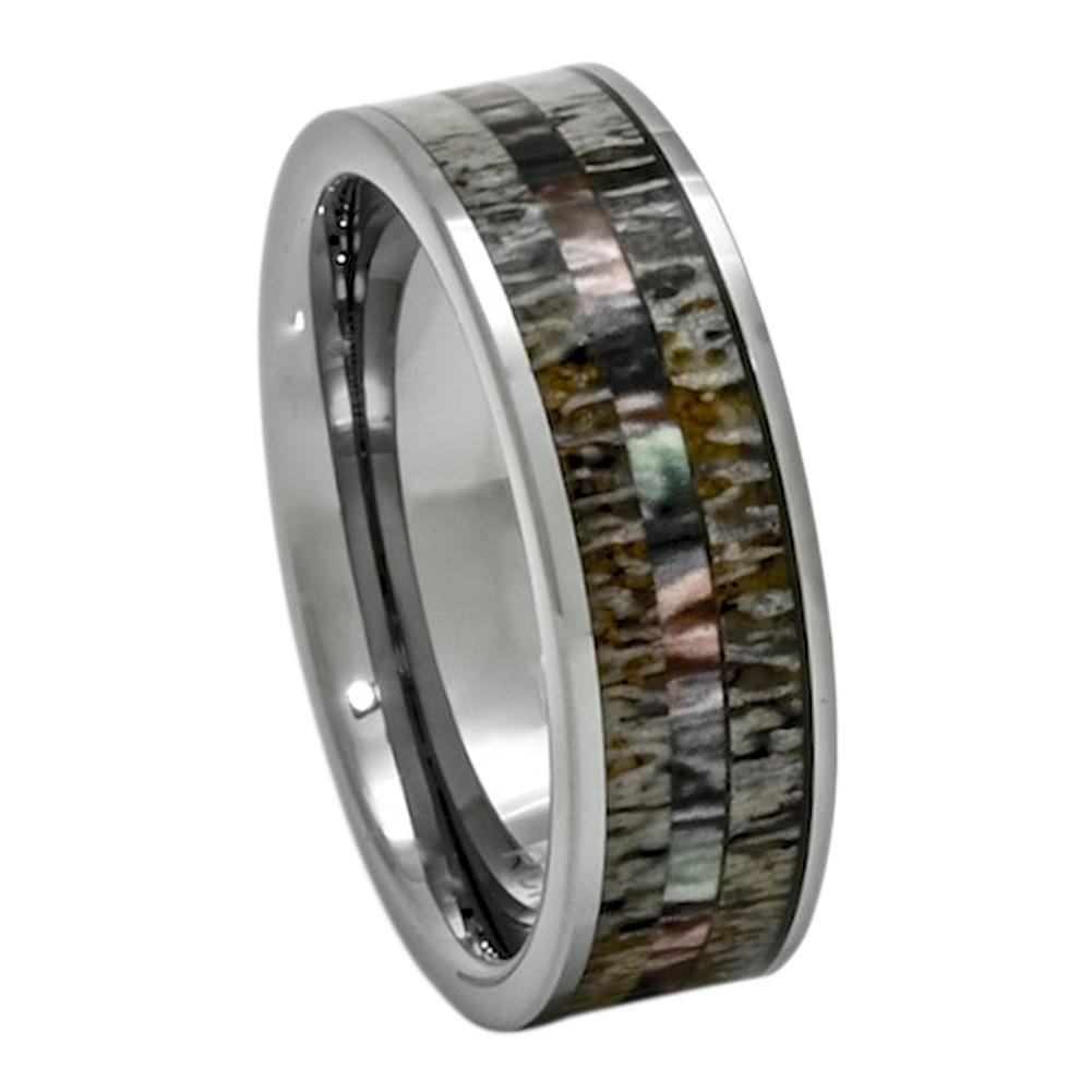 News New Style Opal Wedding Bands 4mm and 6mm in Tungsten Carbide