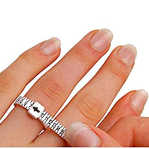 Free Ring Sizer with purchase to estimate your finger size