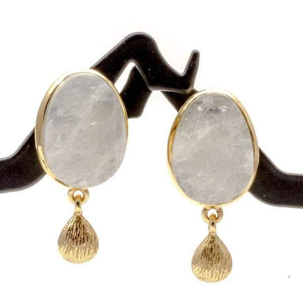 Sterling Silver And Moonstone Earrings, 925 Gemstone Jewelry - PCH Rings