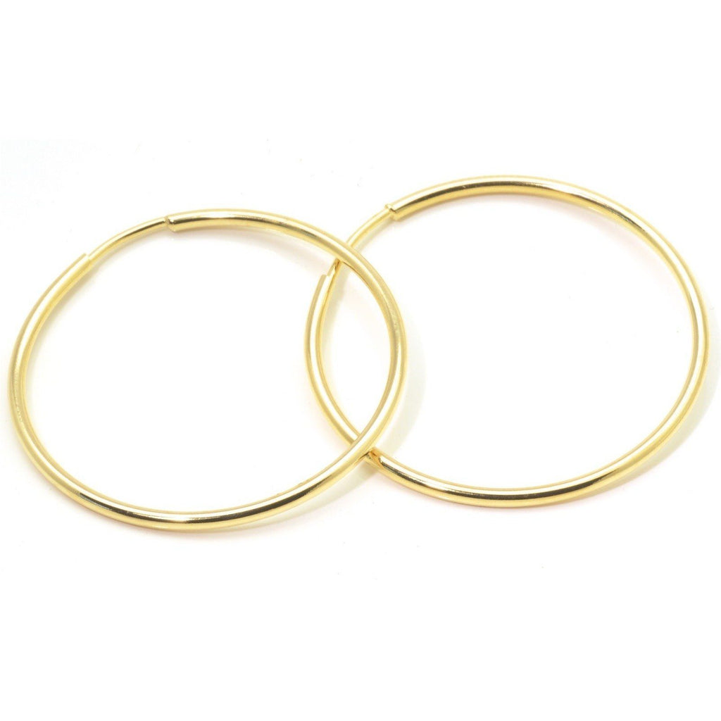 "Fashion Gold Hoop earrings, 18k Gold Filled Jewelry, 1.5"" Diameter - PCH Rings"