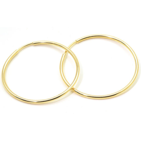 Hoop Earrings 40mm Tube 1.5 Inch 18K Gold Fill - PCH Rings