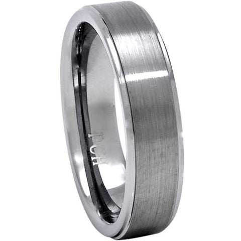 Classic Men's Tungsten Ring, Brushed Finish, 8mm Comfort Fit Wedding Band - PCH Rings