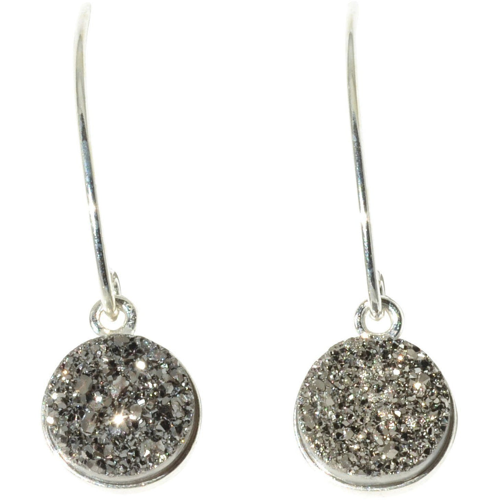 Druzy Earrings Sterling Silver Dangle - PCH Rings