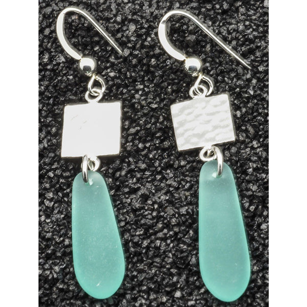 Sterling Silver Sea Glass Earrings, 925 Fine Jewelry - PCH Rings