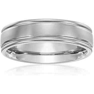 Men's Titanium Wedding Band 6mm Ring Classic Satin Finish - PCH Rings