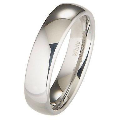 Classic Tungsten Wedding Ring, 6mm Comfort Fit Wedding Band - PCH Rings