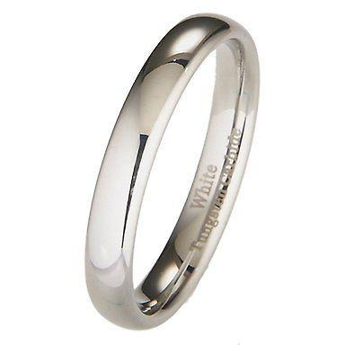 Tungsten Wedding Bands 4mm Half Round Ring Size 4 to 10.5 - PCH Rings