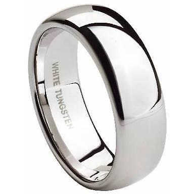 Tungsten Wedding Band for Him Dome 8 mm Ring Classic 8 to 15 - PCH Rings