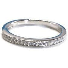CZ Wedding Ring Sterling/Anniversary Band Size 6 7 8 9 - PCH Rings