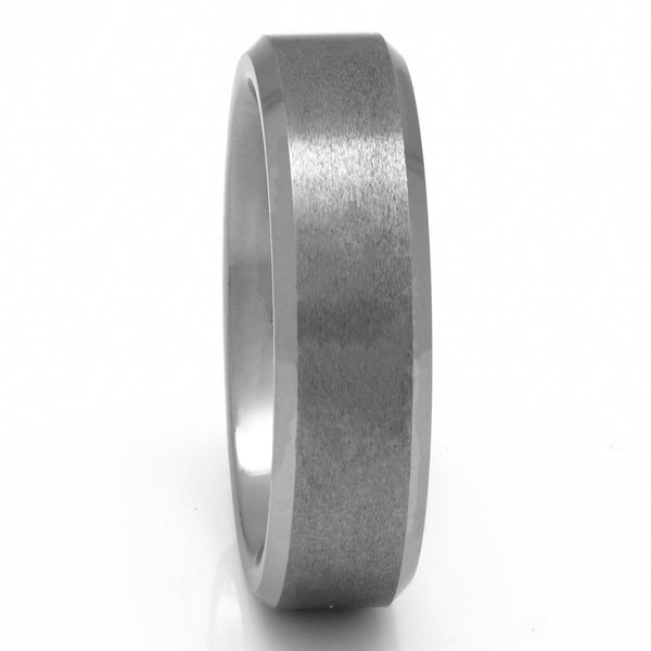Men's Tungsten Ring, Brushed Finish, 7mm Comfort Fit Wedding Band - PCH Rings