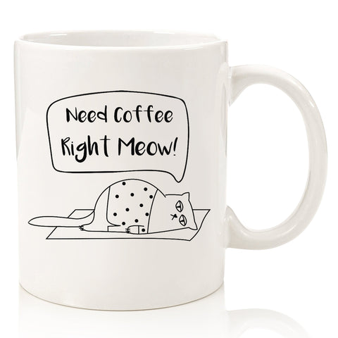 need coffee right meow funny cat coffee mug cup gift for cat lover person grumpy cat i do what i want middle finger christmas present xmas for mom dad brother sister best friend birthday gift idea