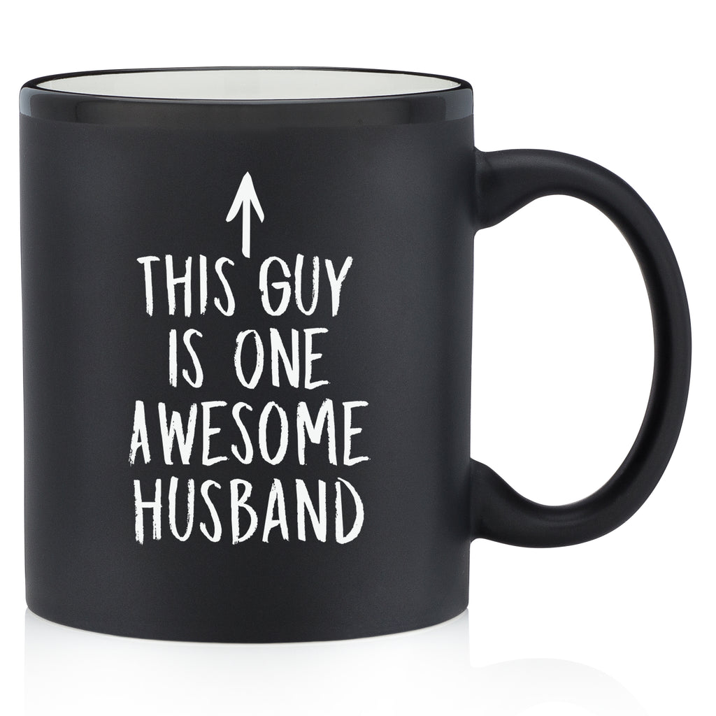this guy is one awesome husband funny coffee mug cup for husband from wife best anniversary gift idea valentines day unique christmas xmas present gift stocking stuffer