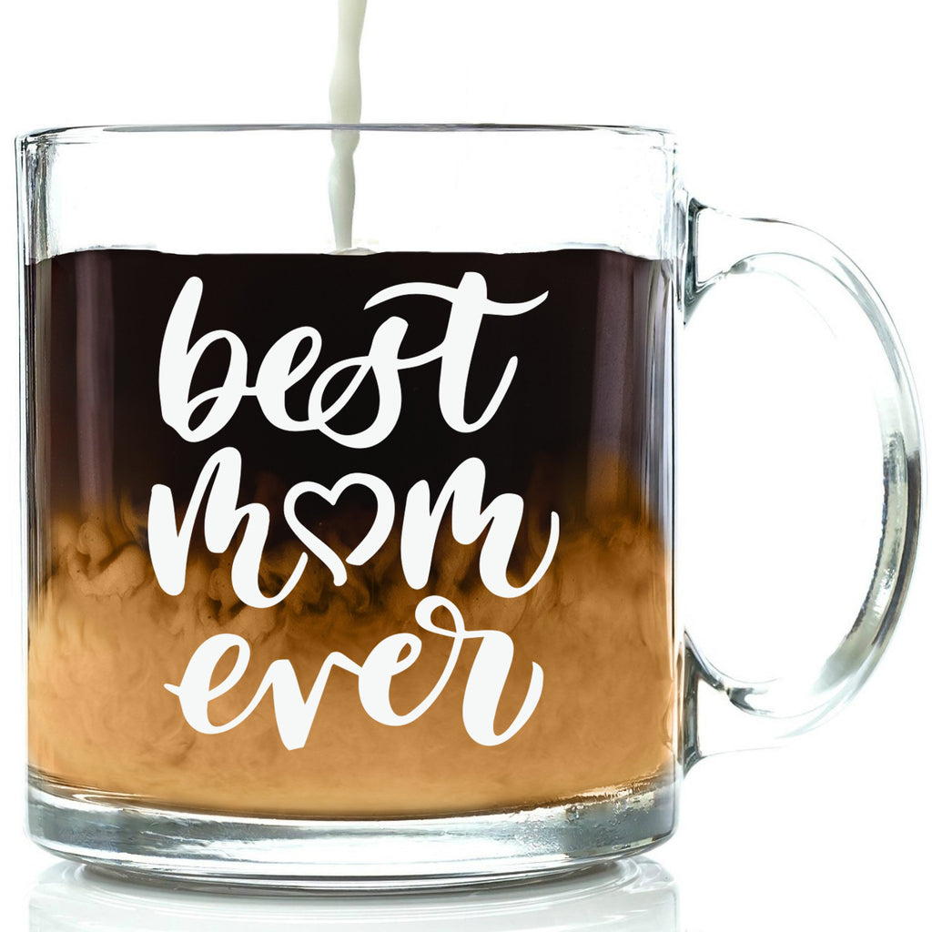 best mom ever glass coffee mug funny novelty cup for mothers day from son daughter husband to wife mom mug best birthday gift idea nice christmas xmas present stocking stuffer women her