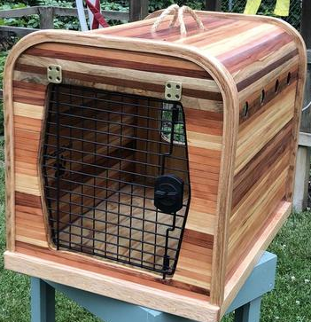 wood designer dog crate