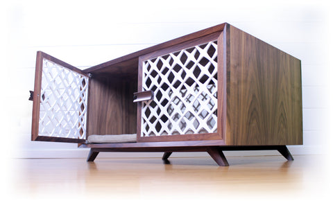 dog crate midcentury
