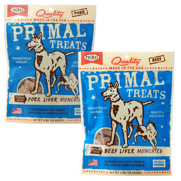 Primal Munchies Freeze Dried Liver Treats-Store For The Dogs