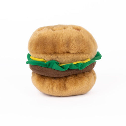 Hamburger Squeaky Toy by ZippyPaws-Store For The Dogs