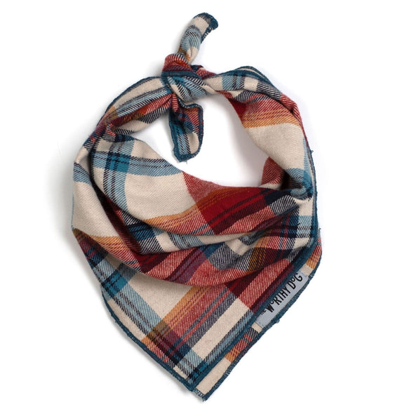 Rust Plaid Tie Bandana-Store For The Dogs