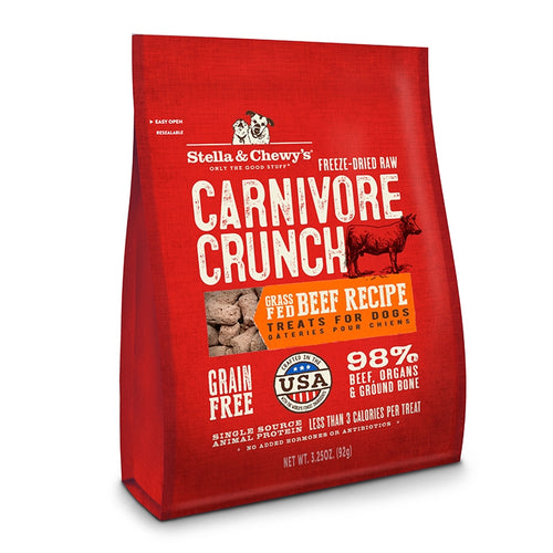 Stella & Chewy's Carnivore Crunch Cage- Beef Recipe Freeze-Dried Raw Dog Treats-Store For The Dogs
